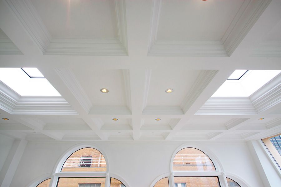 Classic Raised Or A Recessed Panel Coffered Ceiling With Or