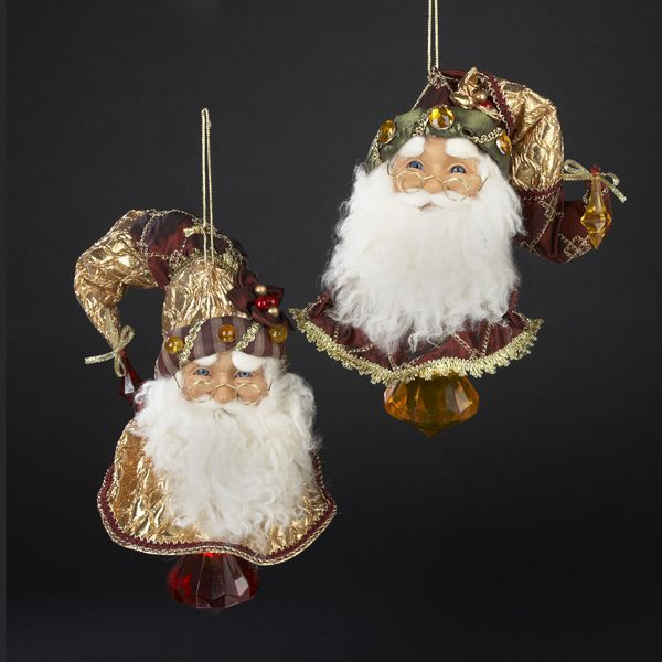 Victorian Father Christmas Decorations: KSA Pack Of 6 Victorian Jeweled