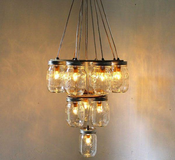 DIY: Empty Mason Jars for a Beautiful Homemade Lamp