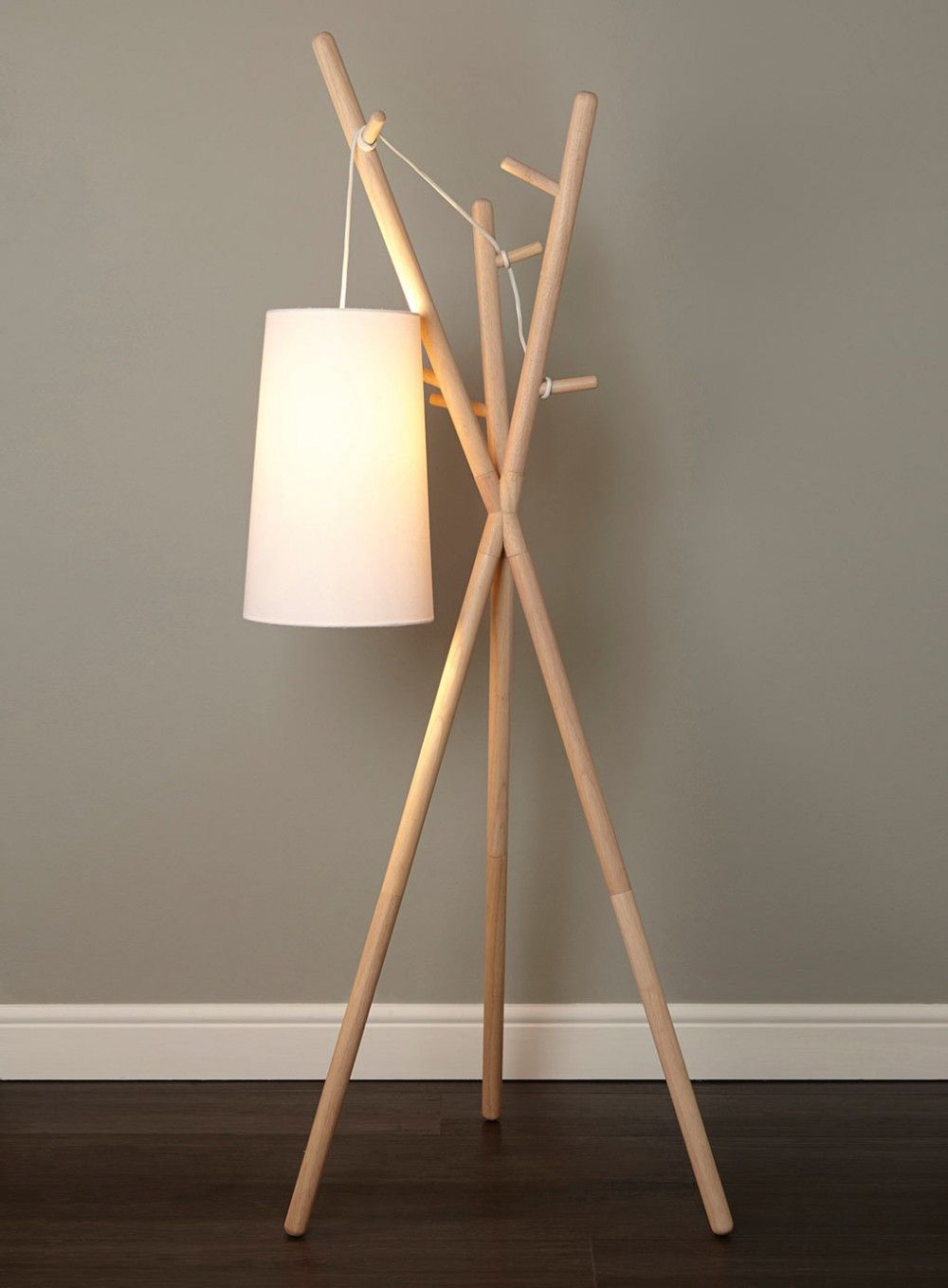 Drewniany Wieszak Do Przedpokoju Oświetlenie Pinterest