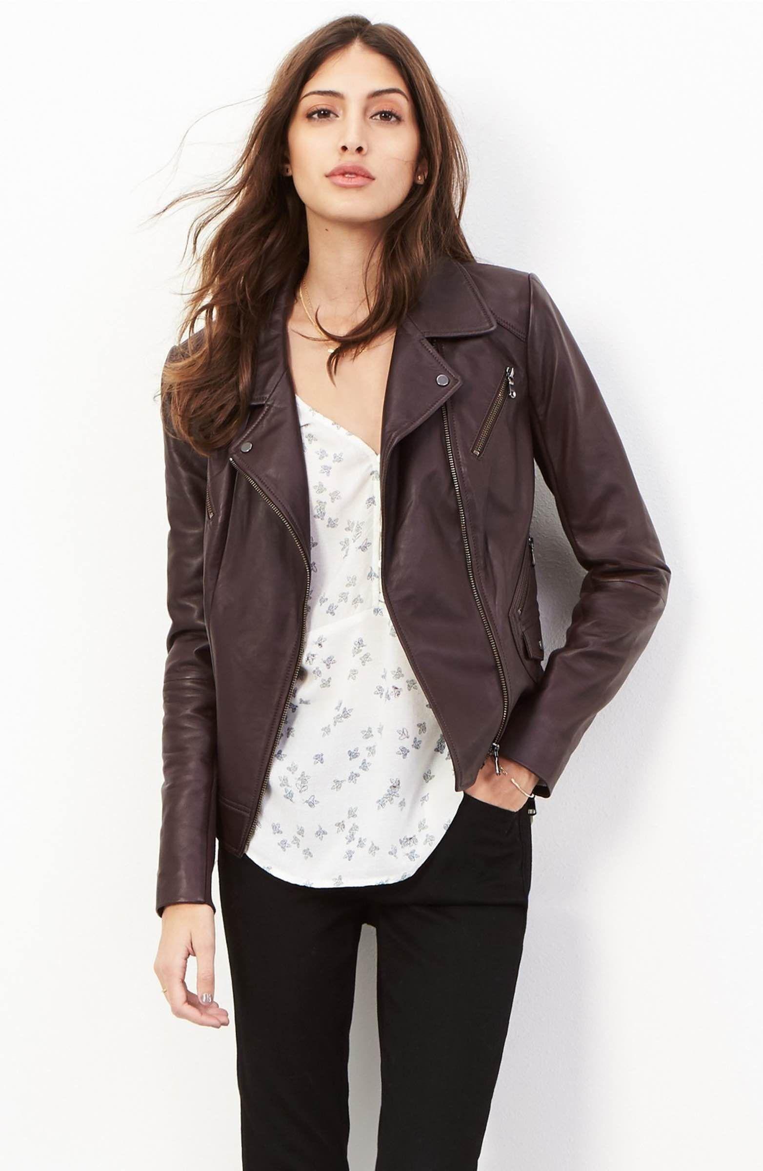 Trouvé Leather Moto Jacket Clothes for women, Clothes