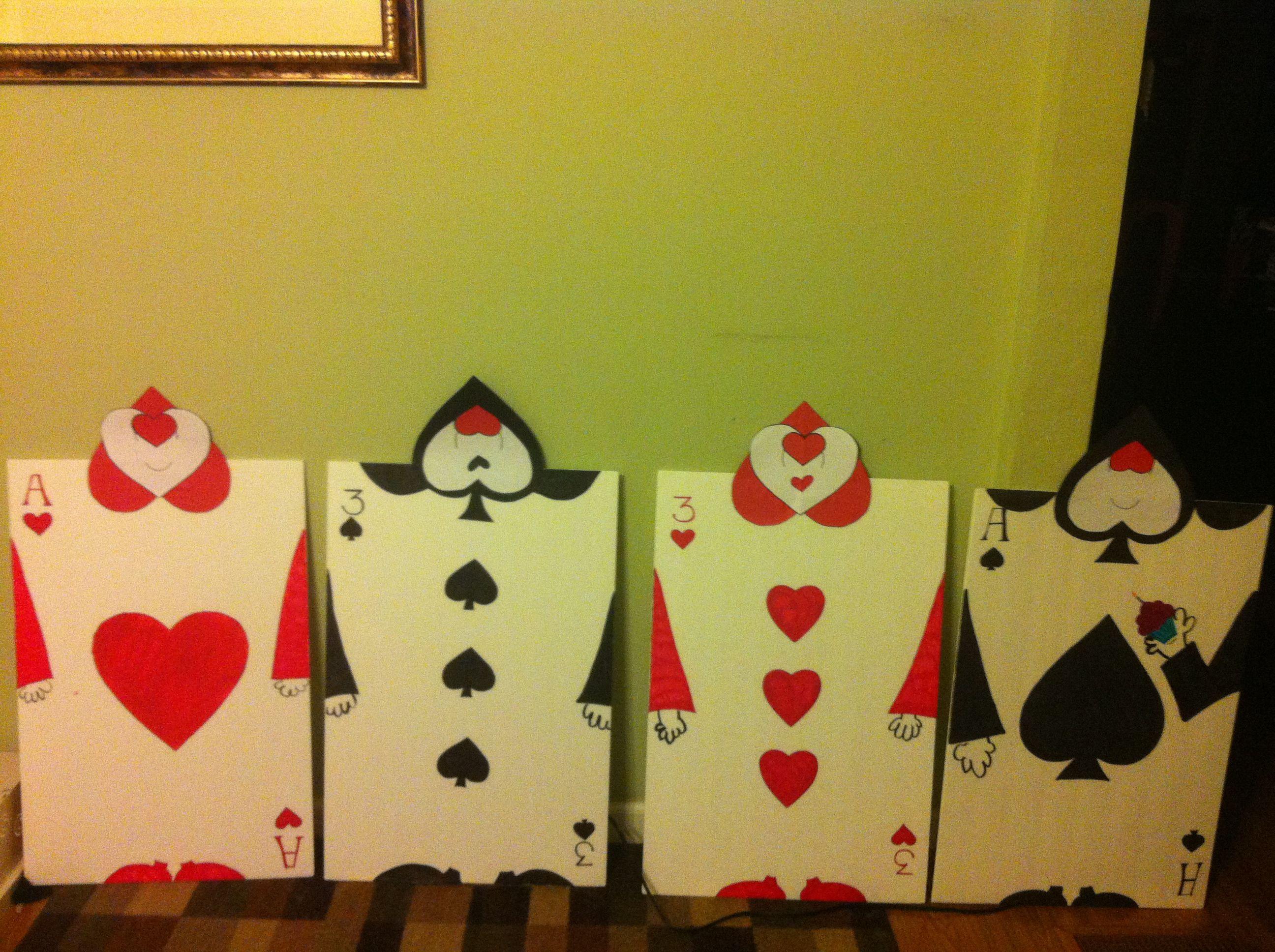 Diy Card Guards For Alice In Wonderland Party Wonderland Party Alice In Wonderland Party Alice In Wonderland