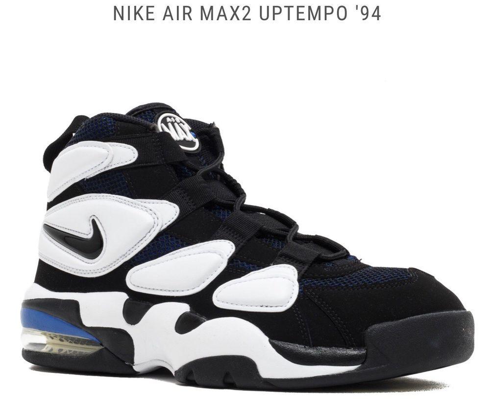 405b3f6297fd14 NIB Nike Air Max 2 Uptempo 94 Duke Men s Basketball Shoes White Black Royal  US 9  Nike  BasketballShoes