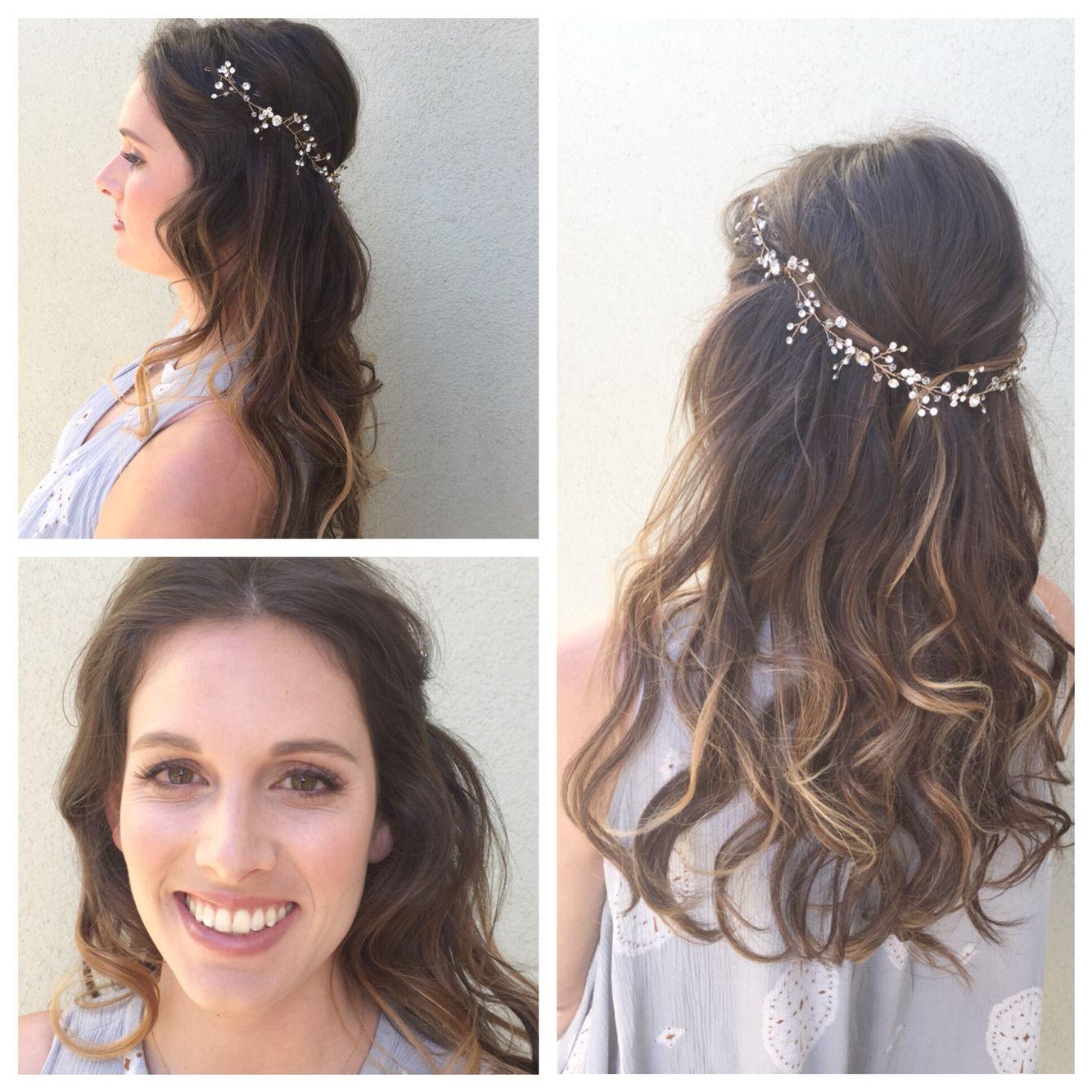 boho bridal hair and makeup ! hair by liz and makeup by