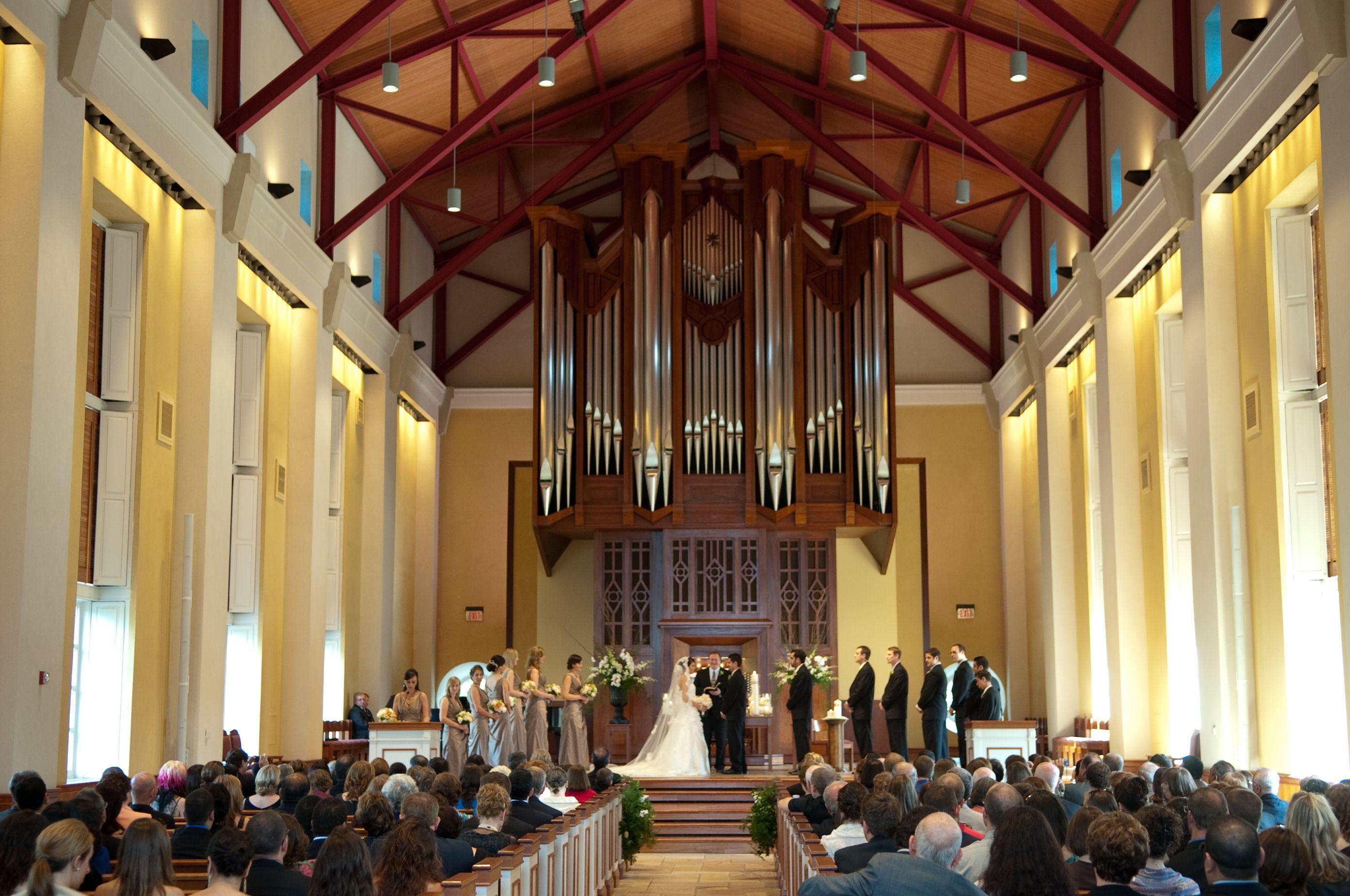 Ceremony At The Charles E Daniel Memorial Chapel Furman University Greenville Sc
