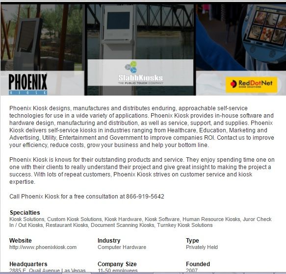 Follow Phoenix Kiosk on LinkedIn | Just SlabbKiosks