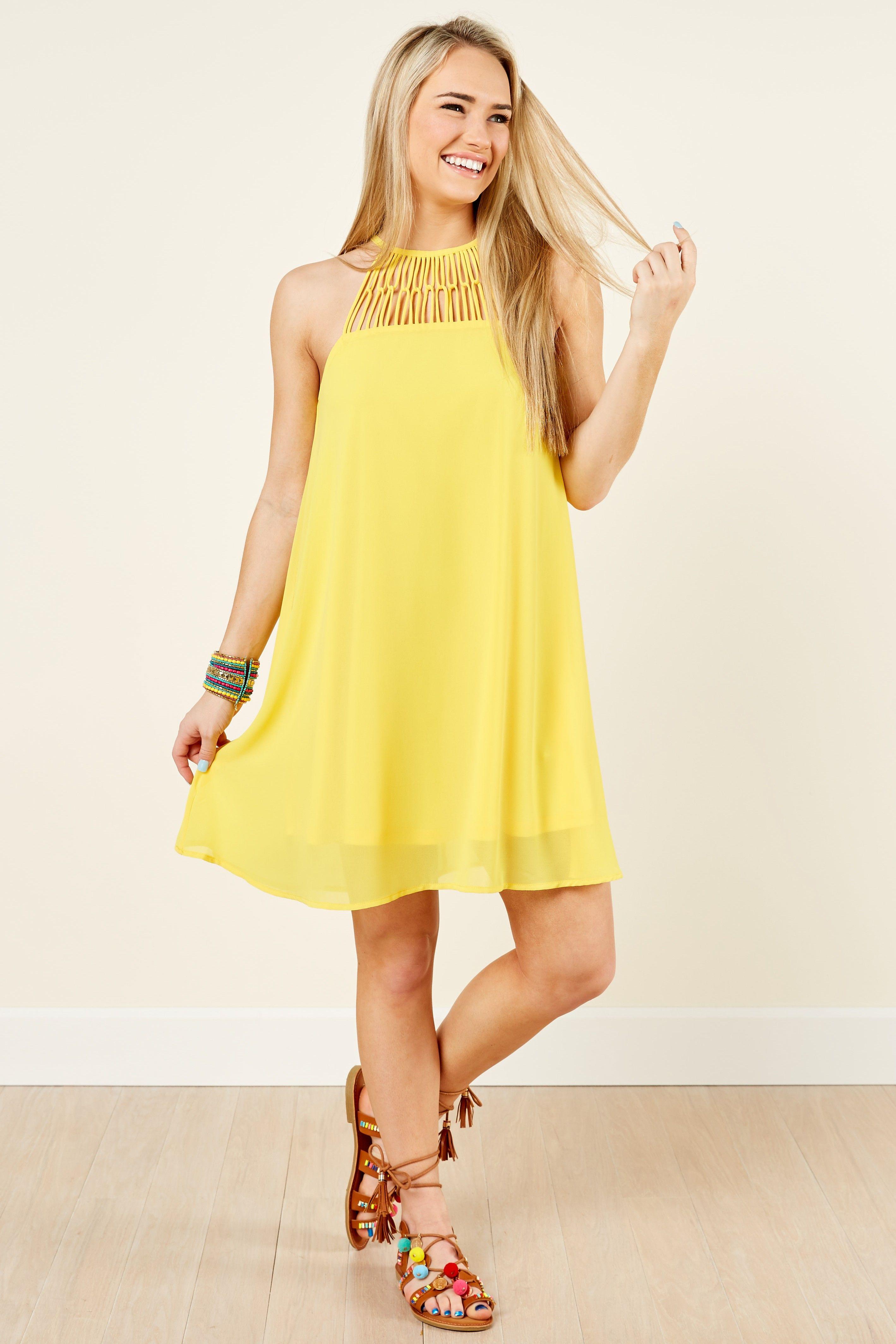 Happy days yellow dress at reddressboutique love fashion