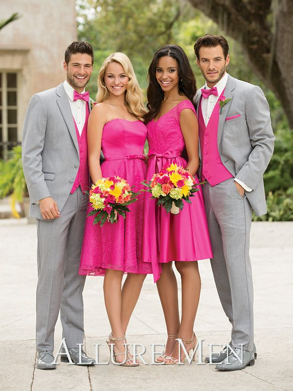 Heather Grey Allure Tuxedo #tiptoptux #tuxedos #groomsmen | Wedding ...