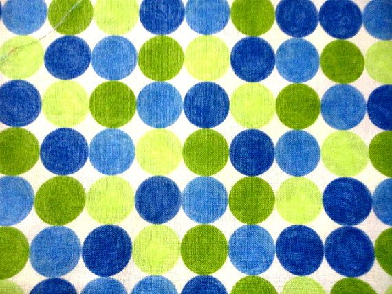 Dots  blue/green  cotton fabric 1 yard
