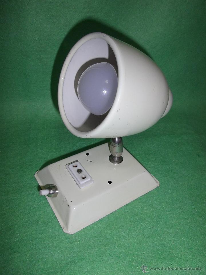 Vintage: Genial lampara raro aplique todo metal antiguo camarote años 50 industrial barco tren enchufe - Foto 2 - 49792274