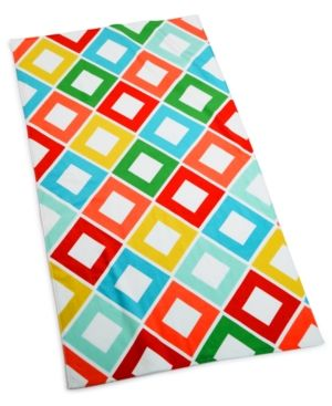 Martha Stewart Collection Carnival Diamond 38 X 68 Beach Towel