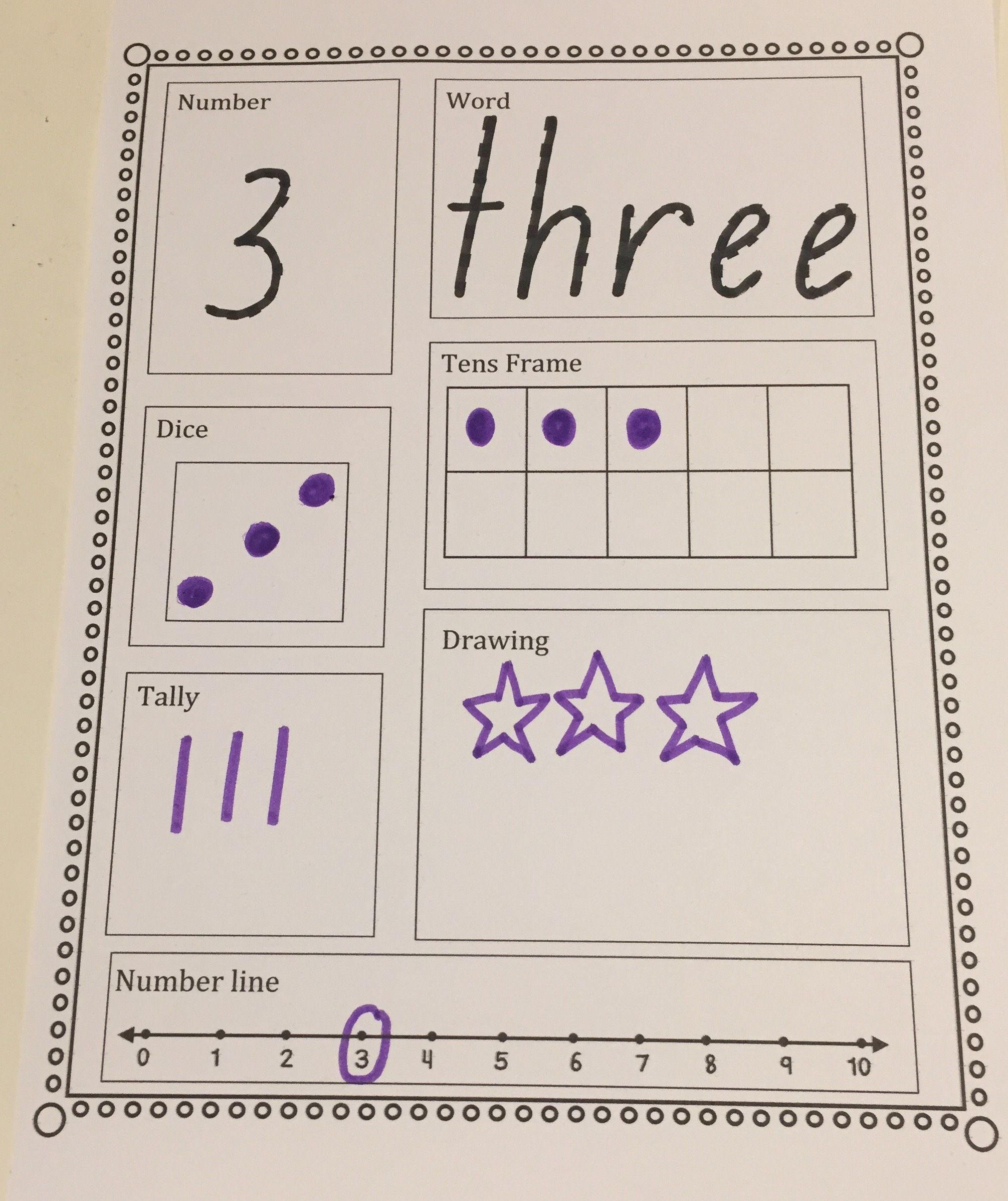 Number Sense 1 10 Worksheets