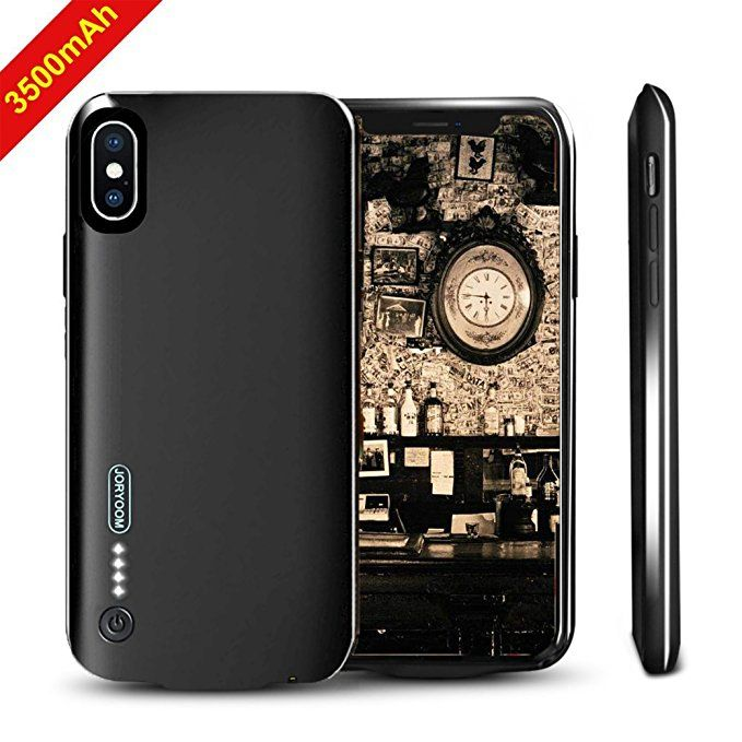 best sneakers 535bb c0913 iPhone X Battery Case, NUTK 3500mAh Thin Rechargeable Charging Case ...