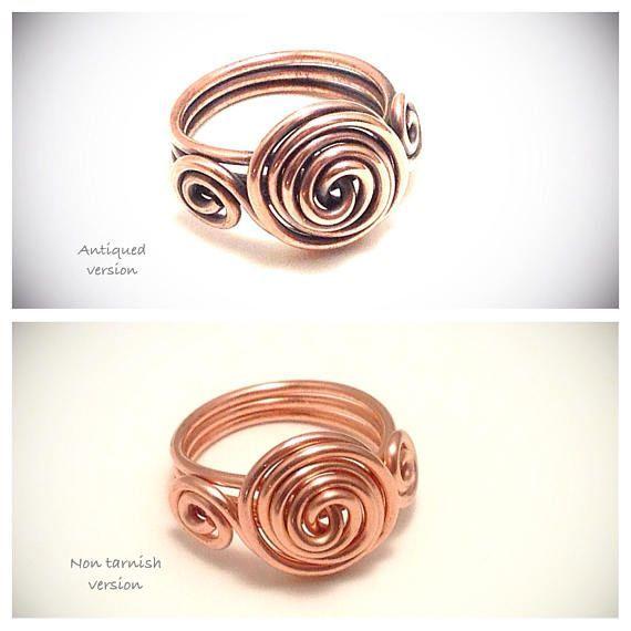Pin by Ljiljana Milanovic on Wire wrapped rings | Pinterest | Wire ...