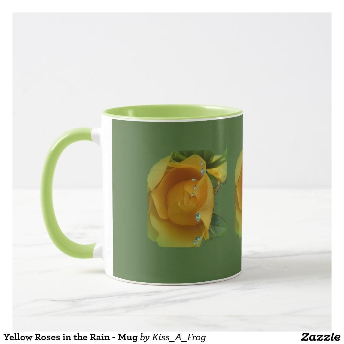 Yellow Roses in the Rain - Mug