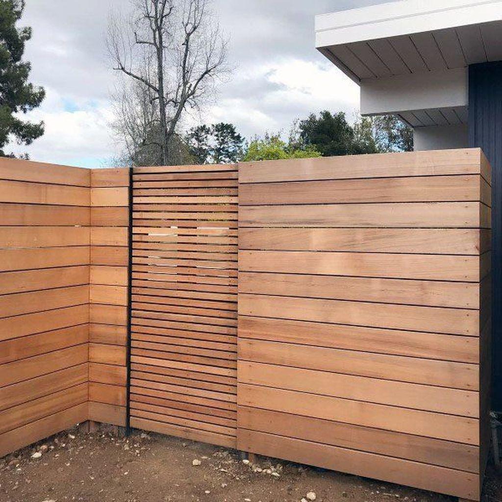 32 Cool Modern Fence Design Ideas Best For Modern House Modern Fence Design Wood Fence Design Modern Fence