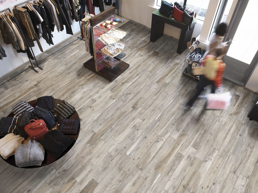 Soft greige wood 15x100cm floor tile by rondine italy a digitally a hard wearing porcelain tile availble in 5 neutral colours la foresta di gres is a natural looking product with a genuineauthentic grained appearance and dailygadgetfo Choice Image