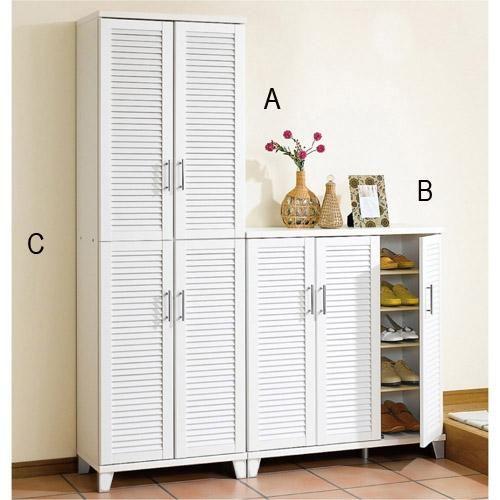 SNC 24 Pairs White Shoe Cabinet   B