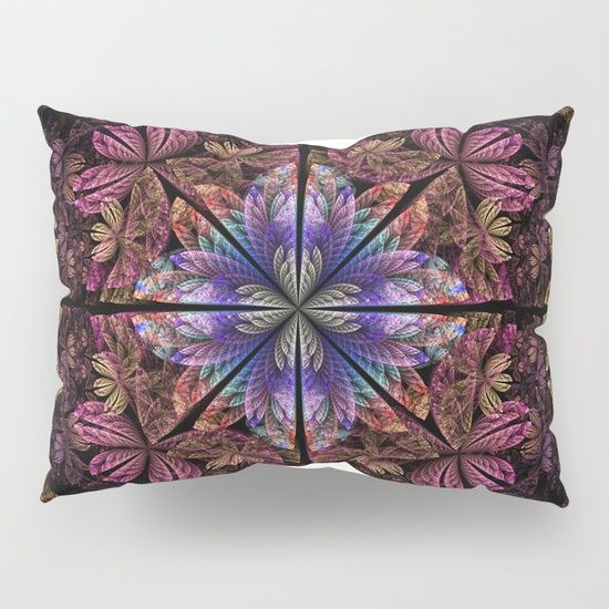 Our Pillow Shams Merge Creativity With Premium Fabrics Bringing Unique Style To Your Bedroom Each Design Is Pr Fractal Patterns Abstract Pattern Pillow Shams