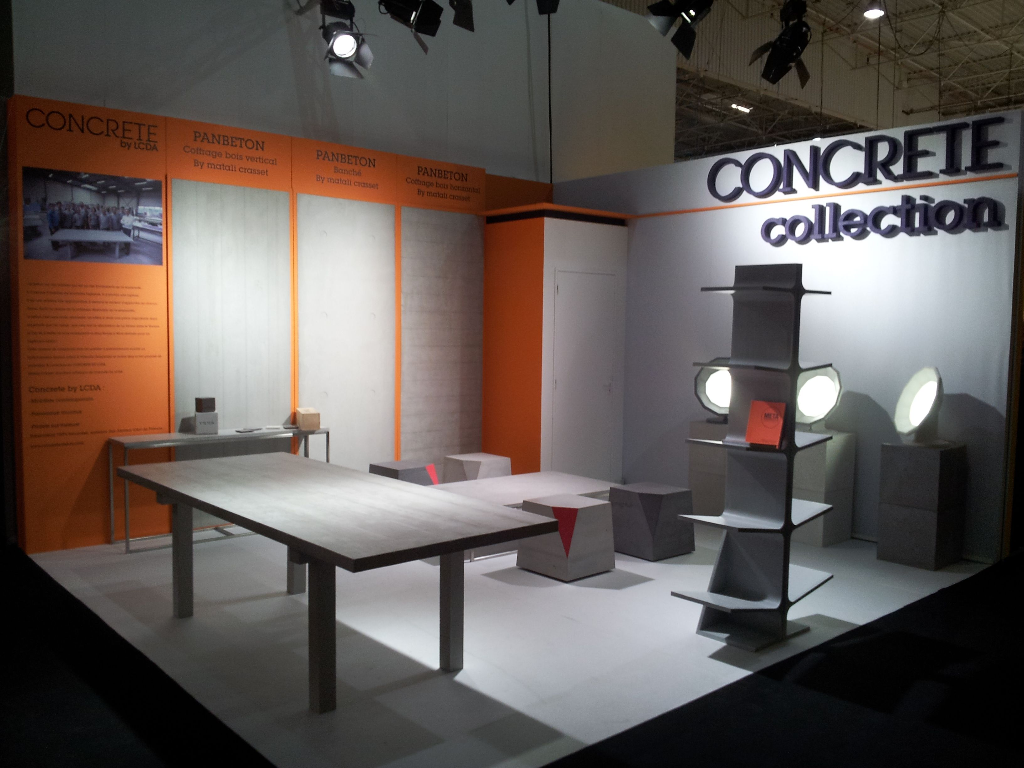 Concrete LCDA at Maison & Objets in January 2013 | CONCRETE panels ...