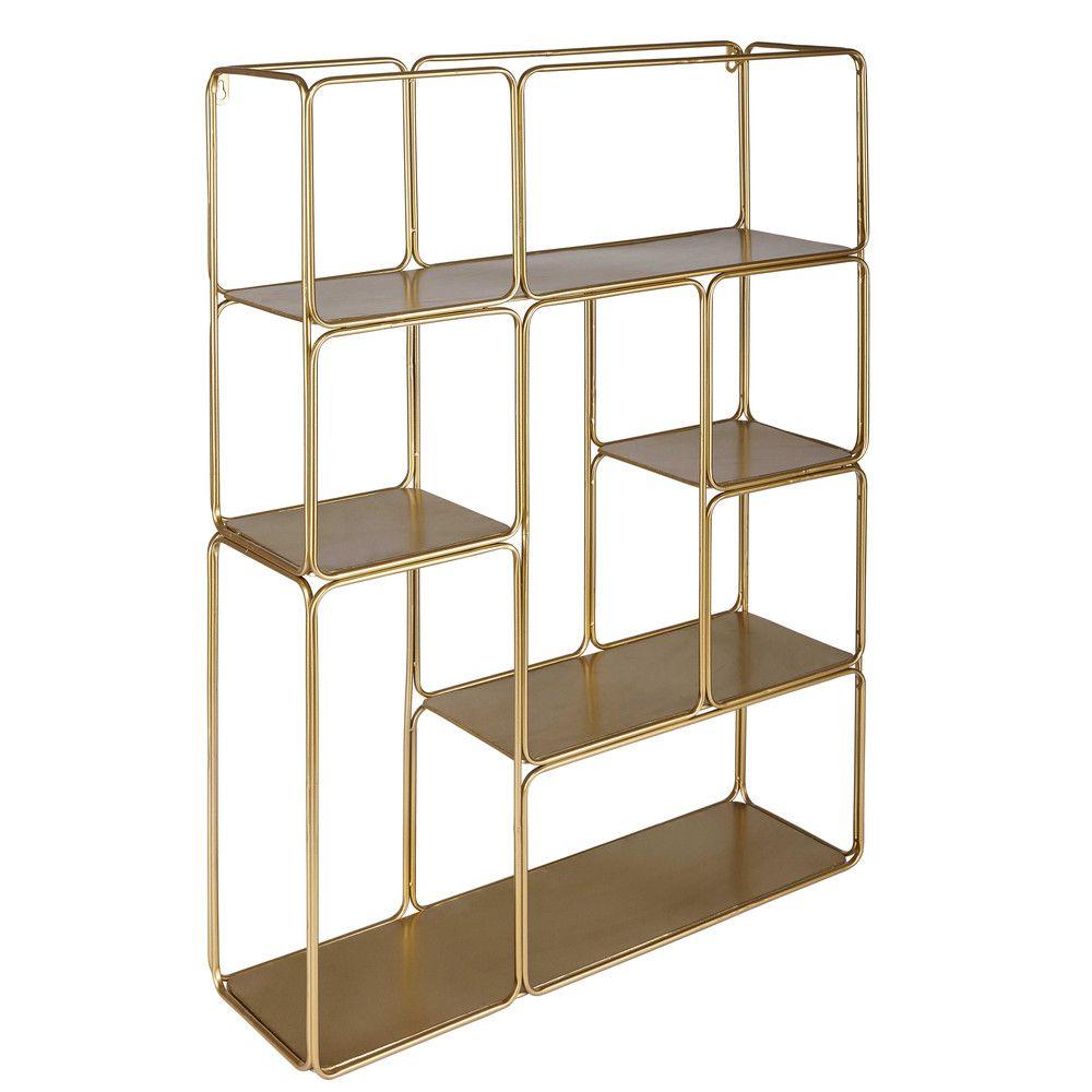 Regal Aus Goldfarbenem Metall Maisons Du Monde Regal Korb Badezimmer Aufbewahrung Interieur