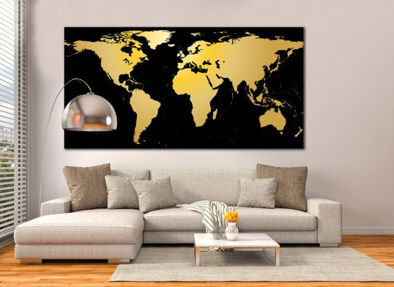 World map framed print black and gold world map by zellartco art world map framed print black and gold world map by zellartco gumiabroncs Images