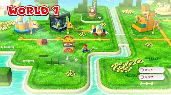 World 1 map from super mario 3d world wiiu bouncy game world 1 map from super mario world wiiu gumiabroncs Images