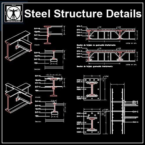 Free Steel Structure Details 5 Cm Steel Structure