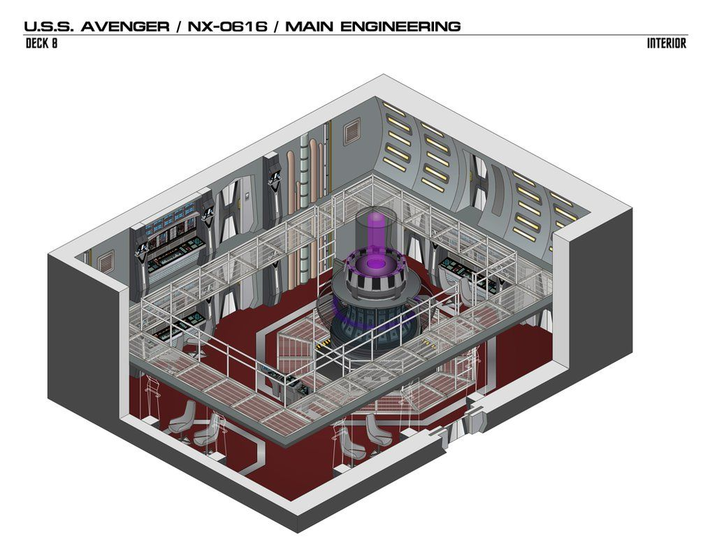 USS Avenger/NX-0616/Main Engineering by bobye2.deviantart.com on @DeviantArt