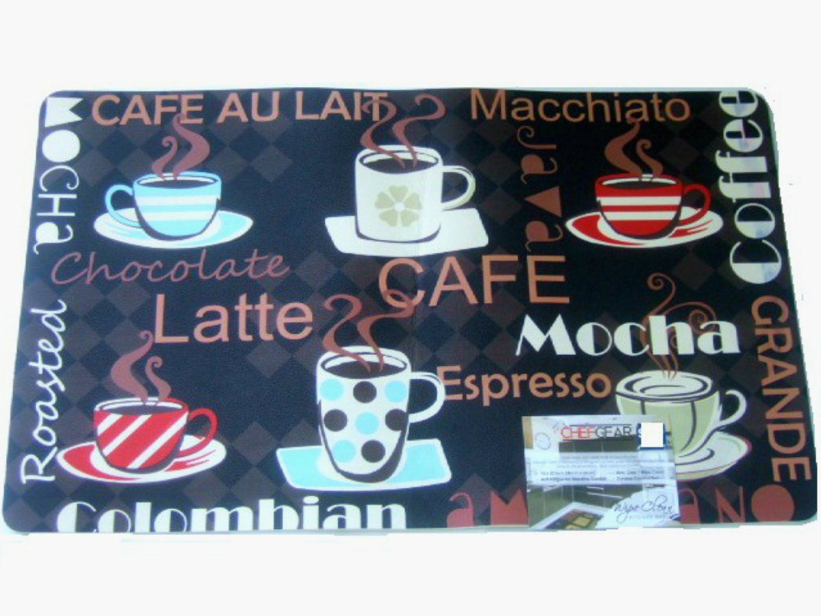 Coffee Cups Kitchen Rug Espresso Latte Mocha Mat 27 95