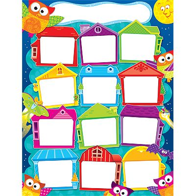 Year  round houses owl stars learning chart also rh pinterest