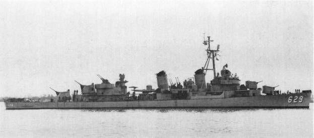 USS Abbot - Cacciatorpediniere classe Fletcher - DislocamentoPieno carico: 3.100 Lunghezza114,76 m Larghezza12 m Pescaggio5,41 m Propulsione4 caldaie 2 gruppi di turbine a ingranaggi 2 eliche Potenza: 60.000hp Velocità33 nodi Autonomia6.000miglia a 15nodi Equipaggio250