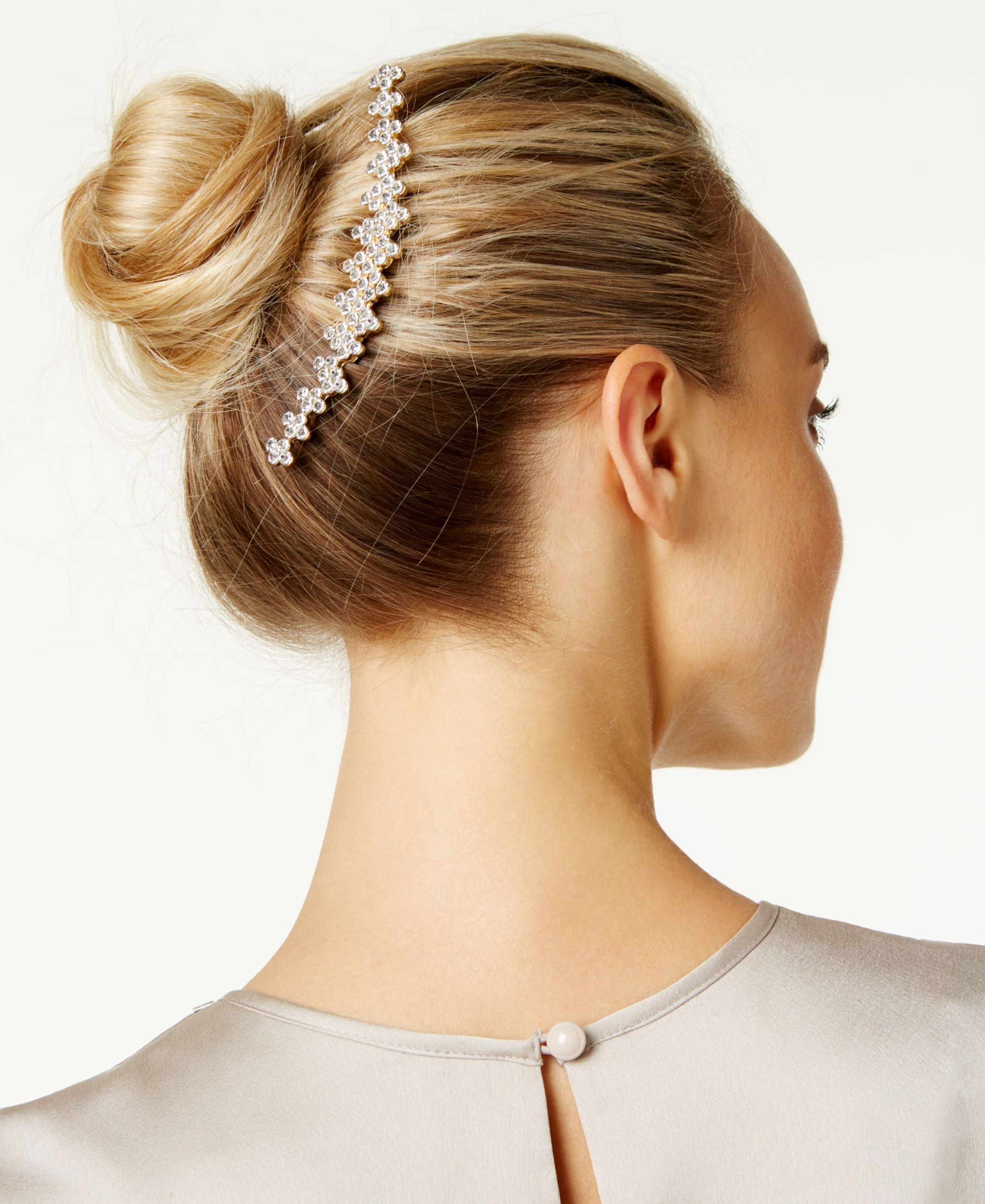 Wedding Hairstyle Game: Josette Rhinestone French Twist Comb