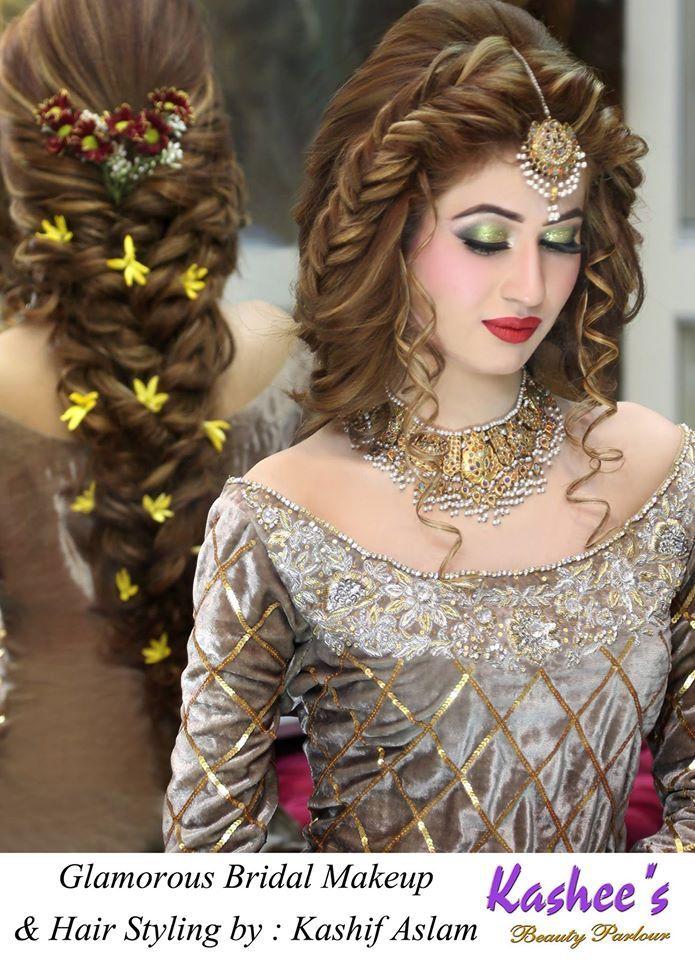 Kashee S Gorgeous Bridal Make Up Beauty Parlour Pakistani Bridal Makeup Pakistani Engagement Hairstyles Engagement Hairstyles