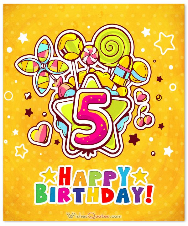 Happy 5th Birthday Wishes for 5YearOld Boy or Girl