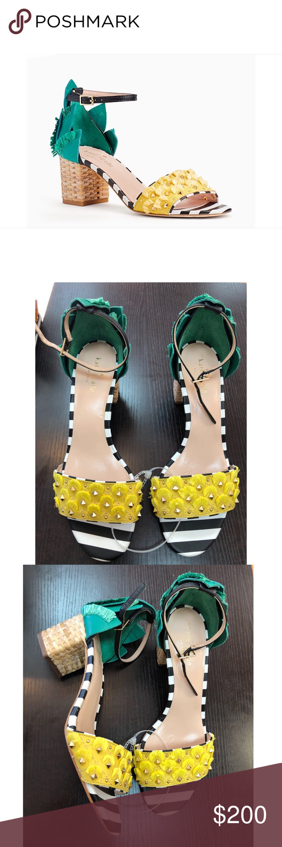 3f21c80513a6 Kate Spade Wiatt Sandals size 9 🍍🍍 Adorable!! Leather upper ...