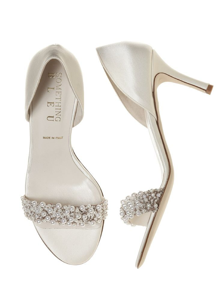Perfect Cy Pearl Du0027orsay Ivory Satin Bridal Shoes Http Www Dessy Design