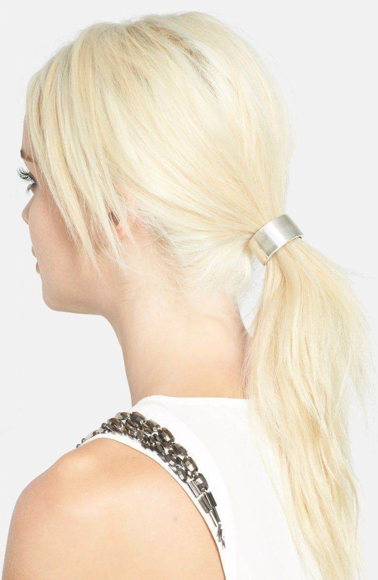 L Erickson Cuff Ponytail Holder Wedding Hairstyles For Medium Hair Elegant Hairstyles Hair Styles