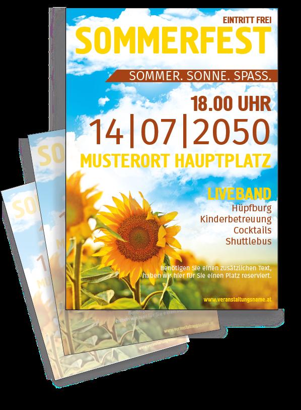 Gunstig Vorlagen Zum Selber Editieren Finden Sie Bei Onlineprintxxl Sonnenblumen Sommervorlagen Gunstig Flyer Event Flyer Flyer Vorlage Vorlagen