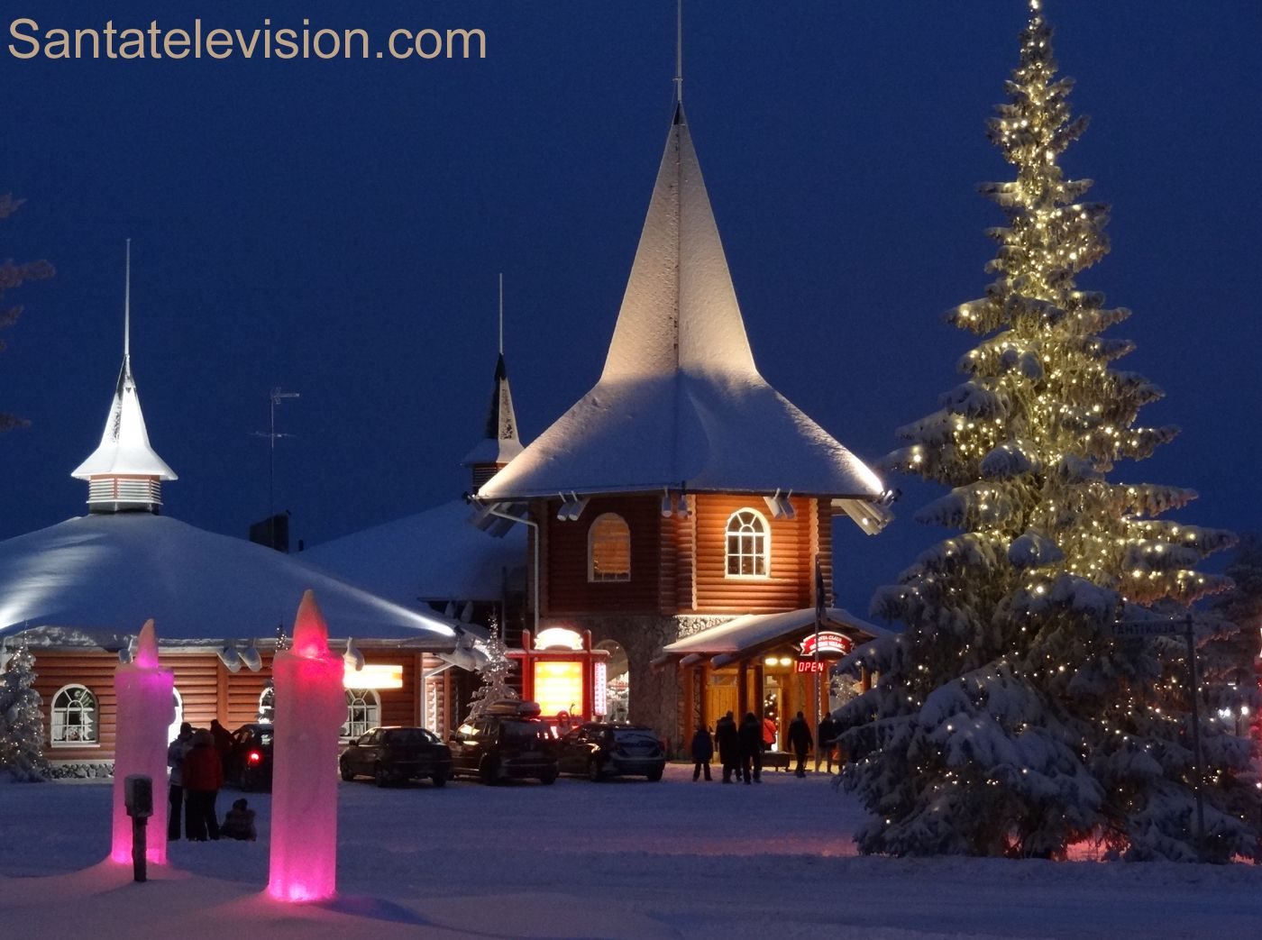 A Casa do Natal na Aldeia do Papai Noel em Rovaniemi na Lapônia na Finlândia