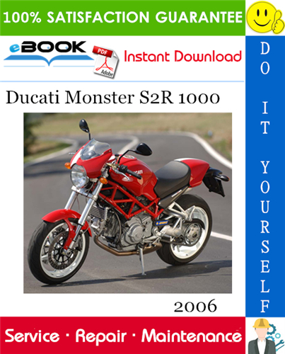 2006 Ducati Monster S2r 1000 Motorcycle Service Repair Manual In 2020 Ducati Monster S2r Ducati Monster Ducati