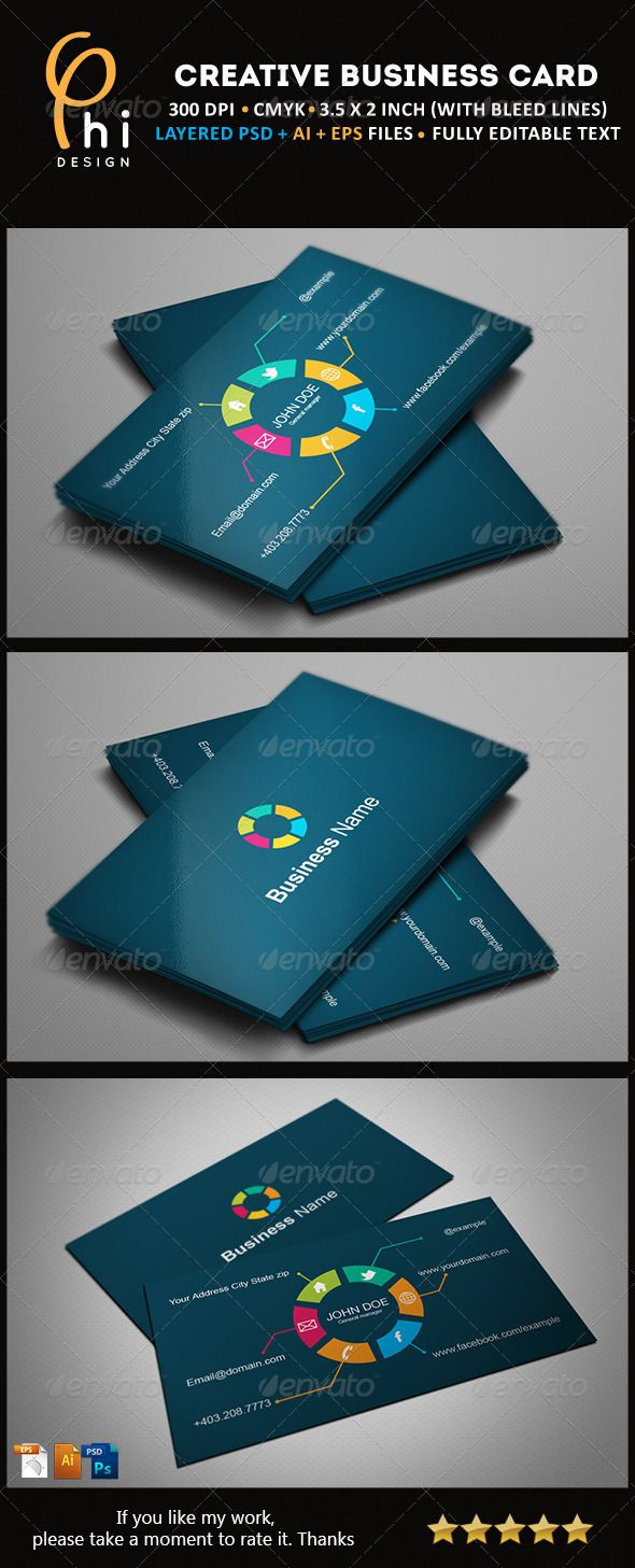 Creative Business card | Business cards, Card templates and Template