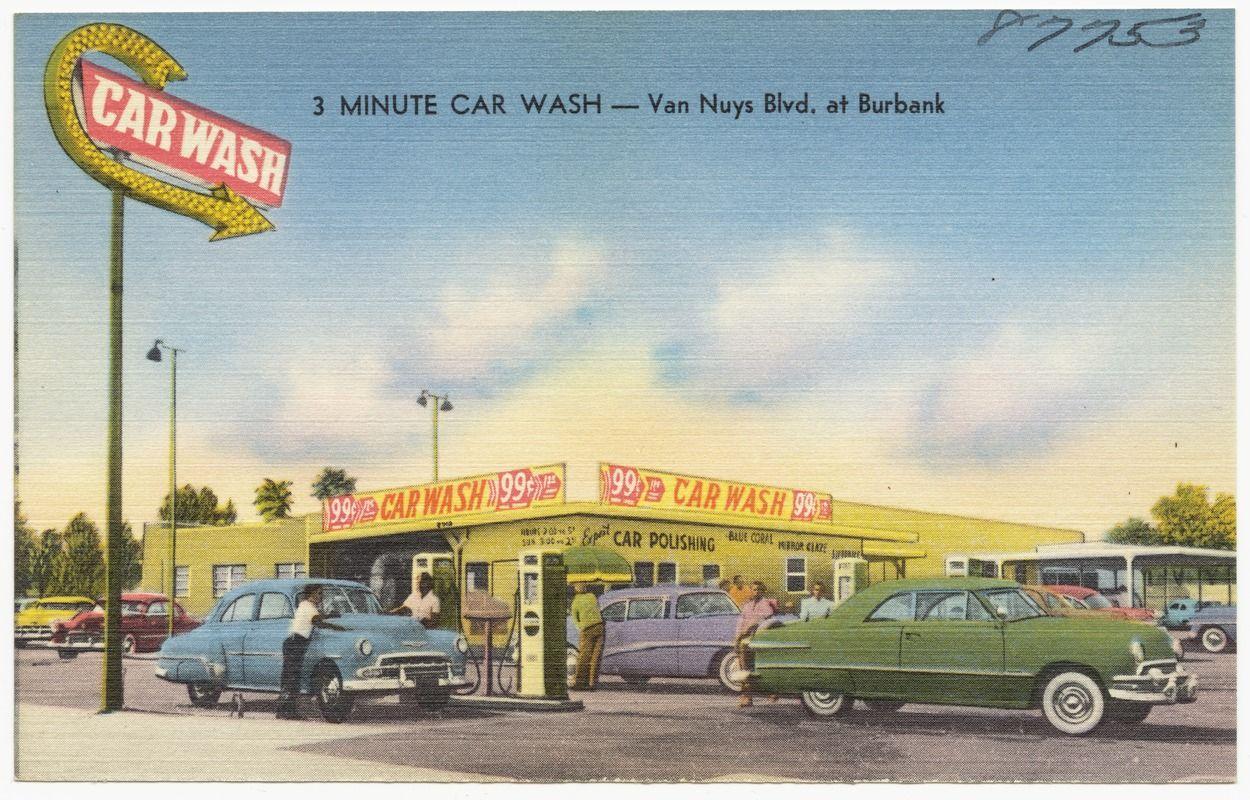 3 Minute Car Wash Van Nuys Blvd. at Burbank Car wash