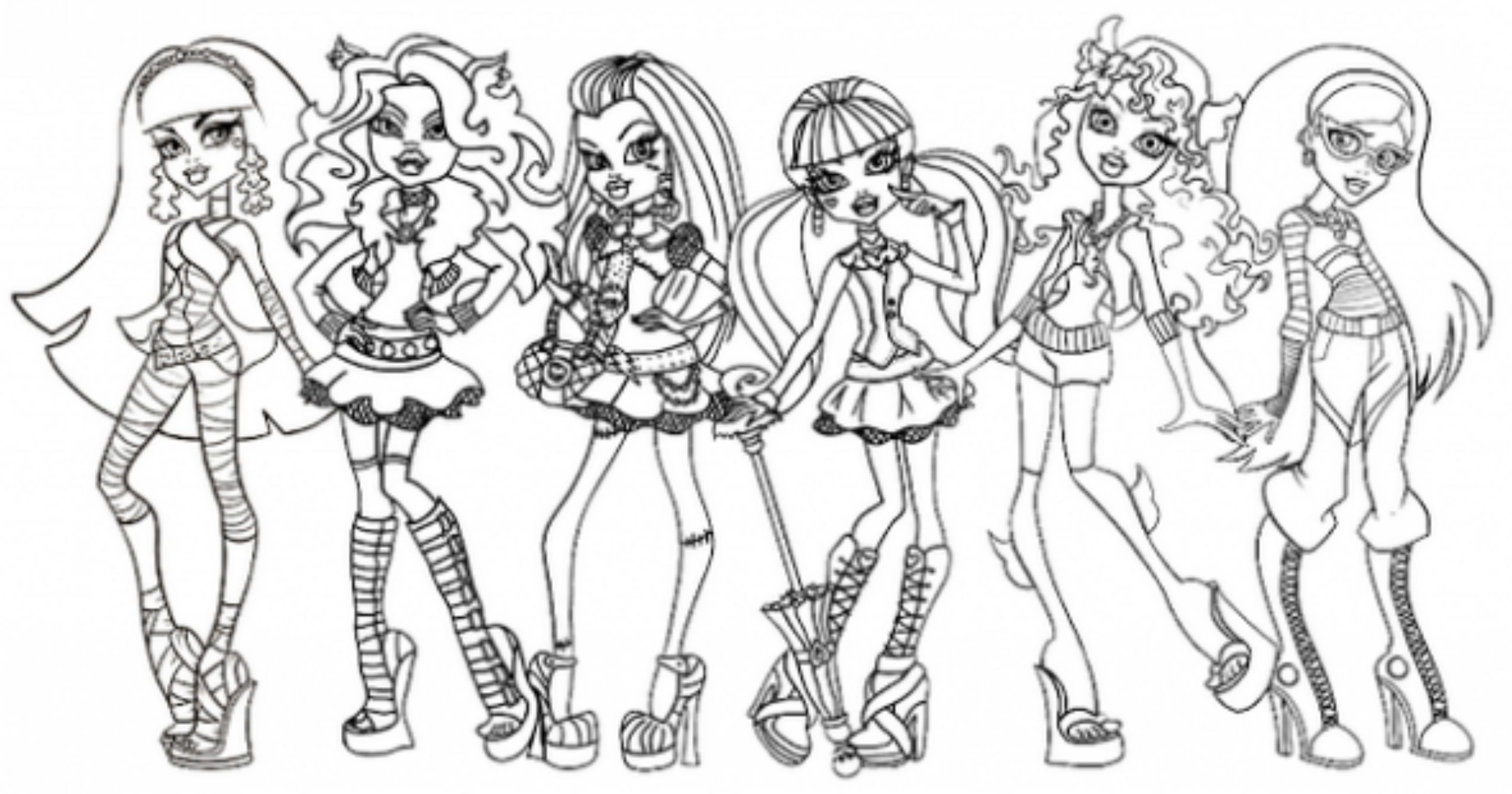 Free Monster High Coloring Pages For Kids In 2020 Monster High Pictures Monster High Characters Coloring Pages