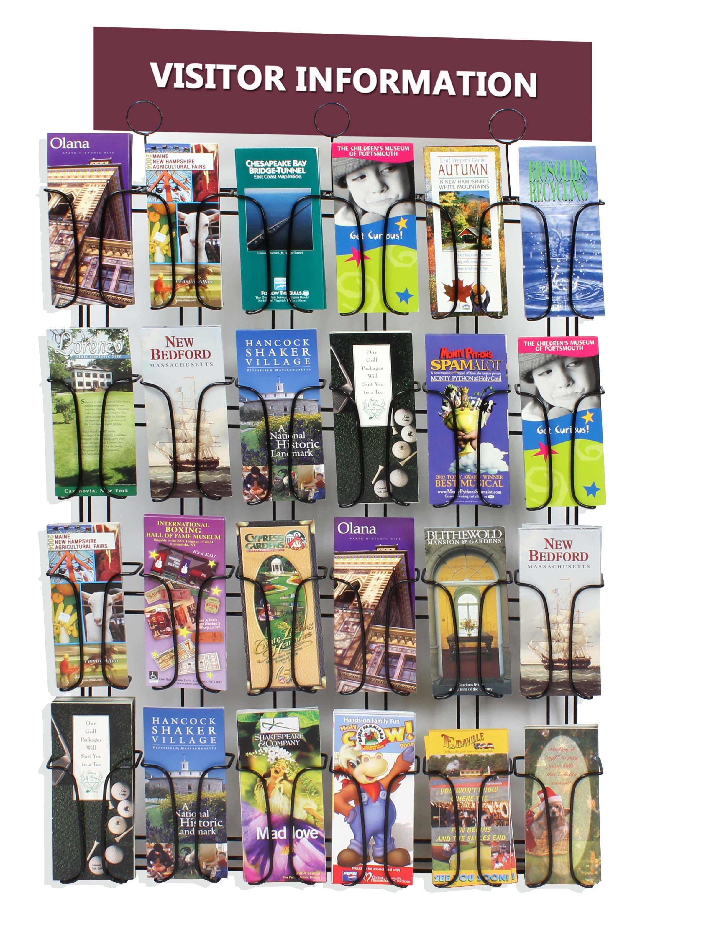 pre photo wide pocket wall mount drilled literature holder plexiglass brochure customer rack p fits