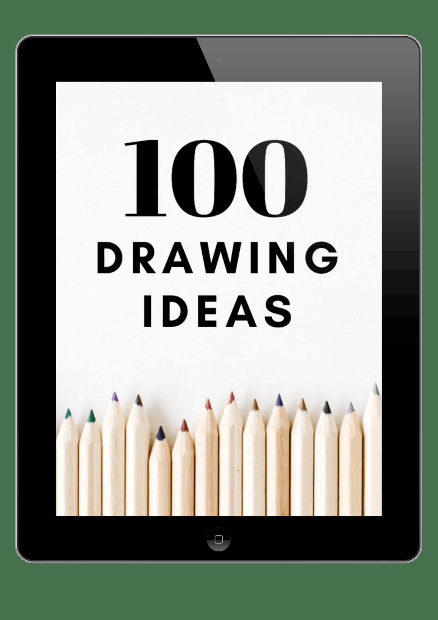 Free Ebook 100 Drawing Ideas In 2020 Flower Drawing Drawings Sketch Book