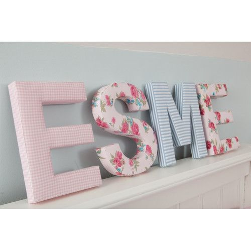 Found it at Wayfair - Candy Stripe Fabric Wall Plaque