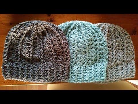 Beanie Haken 40 Rechtshandig Youtube Haken Crochet Crochet