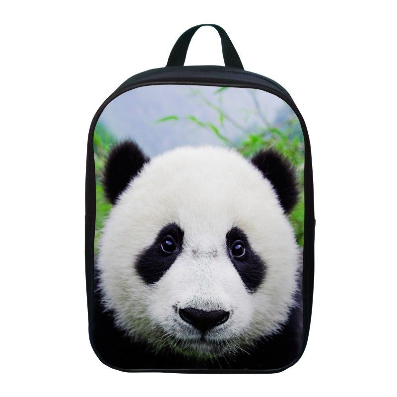 Hot Sale Bookbag Oxford 12 Inches Printing Animal Small Panda Children School Bags For Baby Boys
