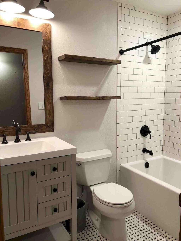 150 Amazing Small Farmhouse Bathroom Decor Ideas And Remodel Cottage Bathroom Design Ideas Bathroom Wall Colors Home Depot Bathroom Home depot bathroom design ideas